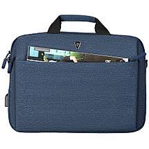 """Сумка для ноутбука 15.6"""" 2E Melange, темно-синяя, нейлон, 425 x 315 x 110 мм (2E-CBN9165NV), фото 2"""
