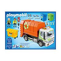 Конструктор Playmobil 70200 Мусоровоз с мигалкой и баками для сортировки мусора, фото 1