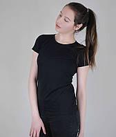 Классическая черная женская футболка «Fruit of the Loom»