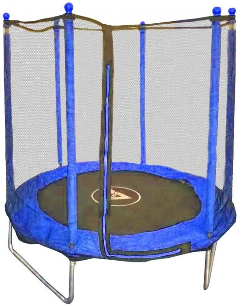 Батут детский с защитной сеткой 152 см Atleto синий