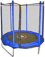 Батут детский с защитной сеткой 152 см Atleto синий, фото 1
