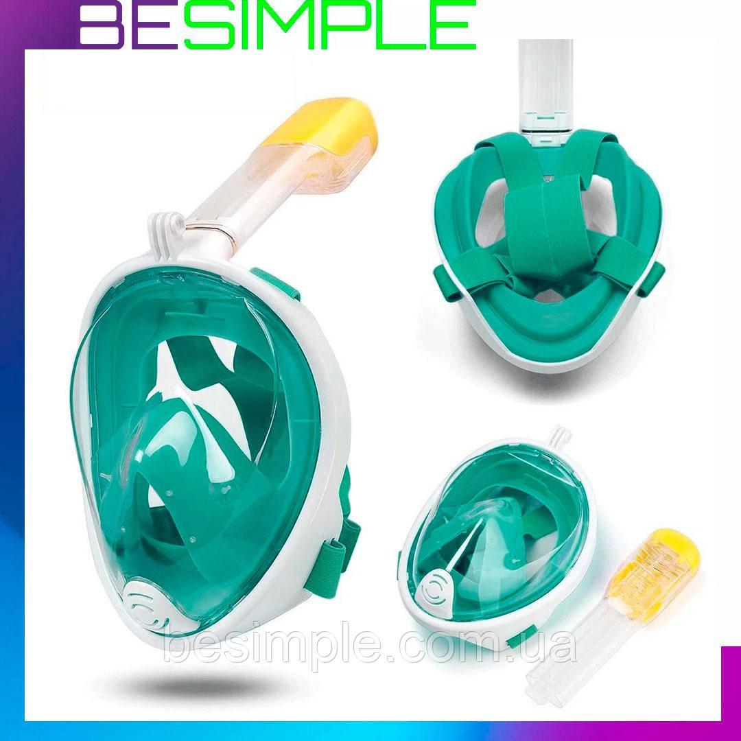 Маска для подводного плавания EasyBreath, Маска для плавания и ныряния + Подарок