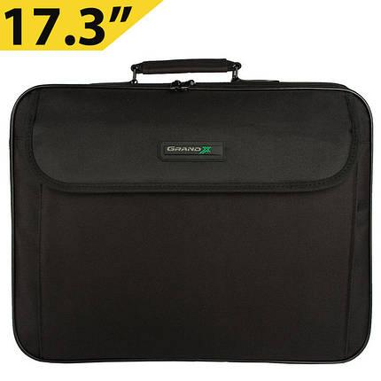 """Сумка для ноутбука 17.3"""" Grand-X HB-175, черная, 45 x 37 x 7 см, фото 2"""