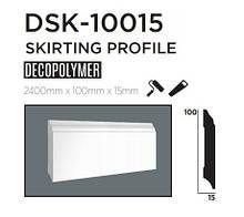 Плинтус напольный DECOLUX DSK10015, лепной декор из дюрополимера