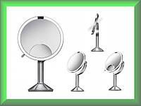 Дзеркало сенсорне кругле 20 см Trio на акумуляторі ST3024 Simplehuman (збільшення 1х5х10)