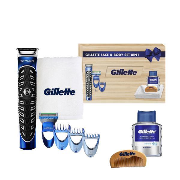 Подарочный набор Gillette Fusion Styler Face & Body 8 в 1 Limited Edition 01444