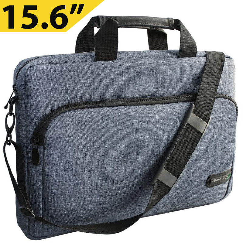 """Сумка для ноутбука 15.6"""" Grand-X SB-139J, блідо-синя, 38 х 26 х 5 см"""