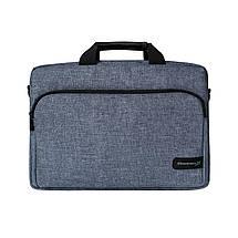 """Сумка для ноутбука 15.6"""" Grand-X SB-139J, блідо-синя, 38 х 26 х 5 см, фото 3"""