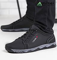 Кроссовки мужские чорние  с прошитой подошвой