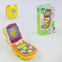 Игровой телефон 766 (96) звуковые и световые эффекты, 2 цвета, в коробке