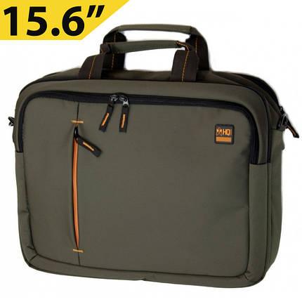 """Сумка для ноутбука 15.6"""" HQ-Tech EE-15522S, Хаки (нейлон), фото 2"""