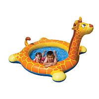 Дитячий надувний басейн Intex 57434 Жираф 208х165х28х122 см від 2 років для дачі