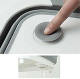 Складная разделочная силиконовая доска трансформер для кухни , походов , туризма белая с серым  4 в 1, фото 5