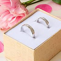 Серебряное обручальное кольцо тонкое с рисунком 15.5