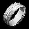 Серебряное обручальное кольцо 20
