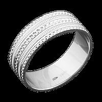 Серебряное обручальное кольцо 16