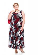 Модный летний сарафан размера плюс Кармен 3 цвета (62-68)