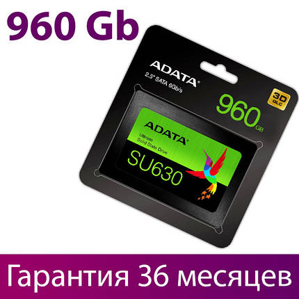 "SSD диск 960 Гб, A-Data Ultimate SU630, SATA3, 2.5"", 3D QLC, 520/450 MB/s (ASU630SS-960GQ-R), ссд накопитель, фото 2"