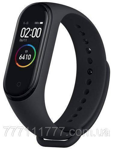 Фитнес-браслет черный, водонепроницаемый с пульсометром и шагомером Xiaomi Mi Band 4 black GLOBAL UA