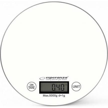 Весы кухонные Esperanza EKS003W White, электронные весы для кухни, електронні кухонні ваги, фото 2