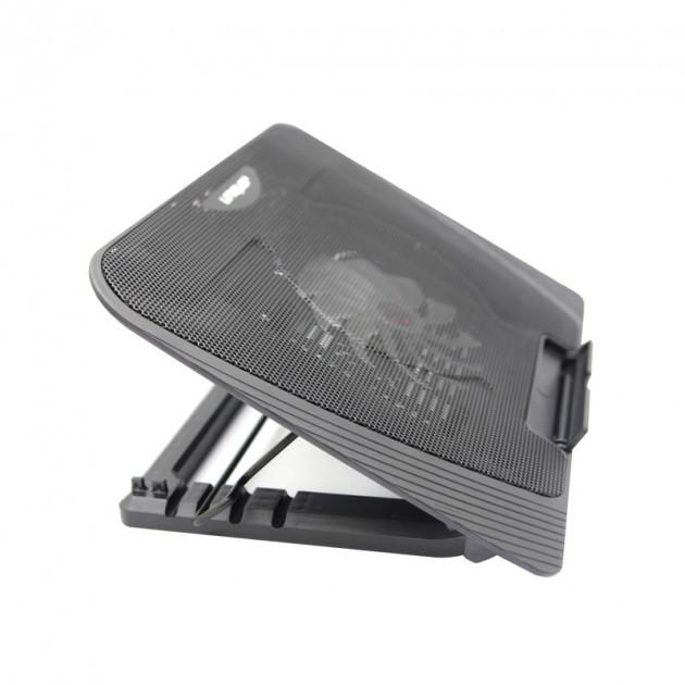 Подставка охлаждающая для ноутбука 1 вентилятор, диагональ 9-17 дюймов чёрный с синей подсветкой N151