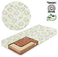 Матрас в детскую кроватку Люкс  кокос - поролон - кокос 120*60*10