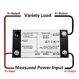 8 в 1; 0-300В, 0-100А Вольтметр, Амперметр, ВАТТметр, Измеритель емкости аккумуляторов, в корпусе, фото 4