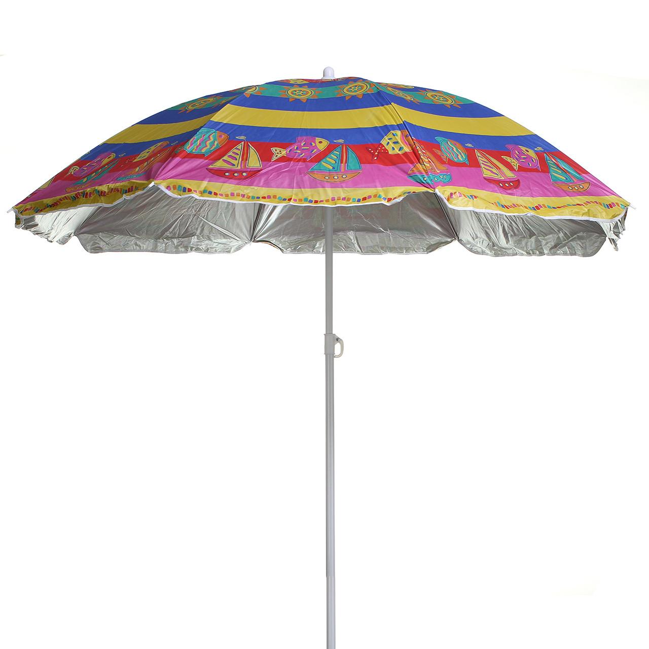 Парасоля пляжна від сонця STENSON 2.4 м складана парасолька для пляжу