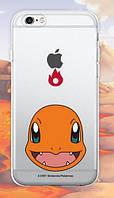 """Прозорий силіконовий чохол """"Pokemon Go"""" для Apple iPhone 5/5S/SE"""