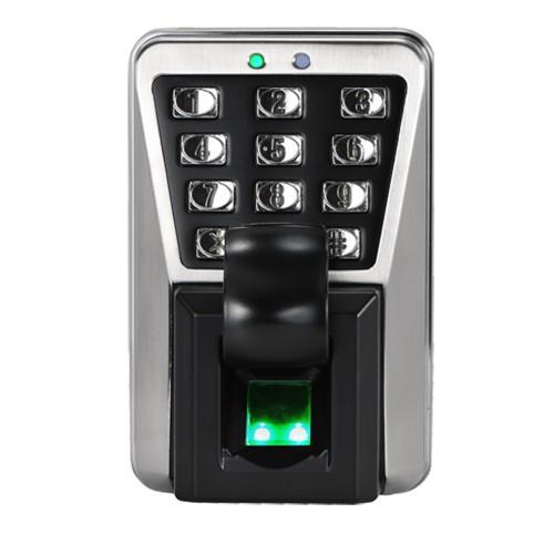 Сетевой биометрический терминал контроля доступа и УРВ по отпечатку пальца и картам Em-Marine ZKTeco MA500/ID