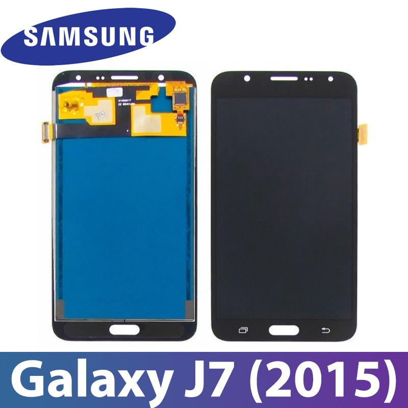 Модуль Samsung Galaxy J7 (2015) SM-J700H черный с регулируемой подсветкой,  дисплей экран, сенсор тач скрин