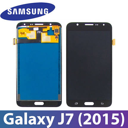 Модуль Samsung Galaxy J7 (2015) SM-J700H черный с регулируемой подсветкой,  дисплей экран, сенсор тач скрин, фото 2