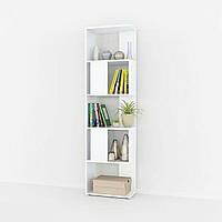 Компактный стеллаж для дома, перегородка, книжный шкаф из ДСП 5 отделений, Белый