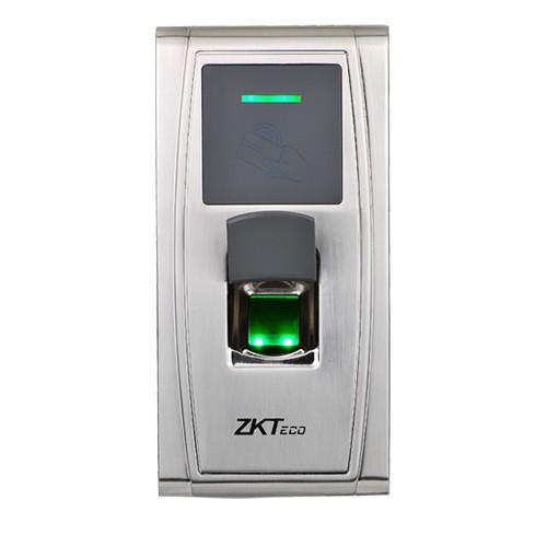 Сетевой биометрический терминал контроля доступа и УРВ по отпечатку пальца и картам Em-Marine ZKTeco MA300/ID