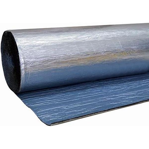 Каучук фольгированный RC ALU с клеем 10 мм рулон 10 м. кв.