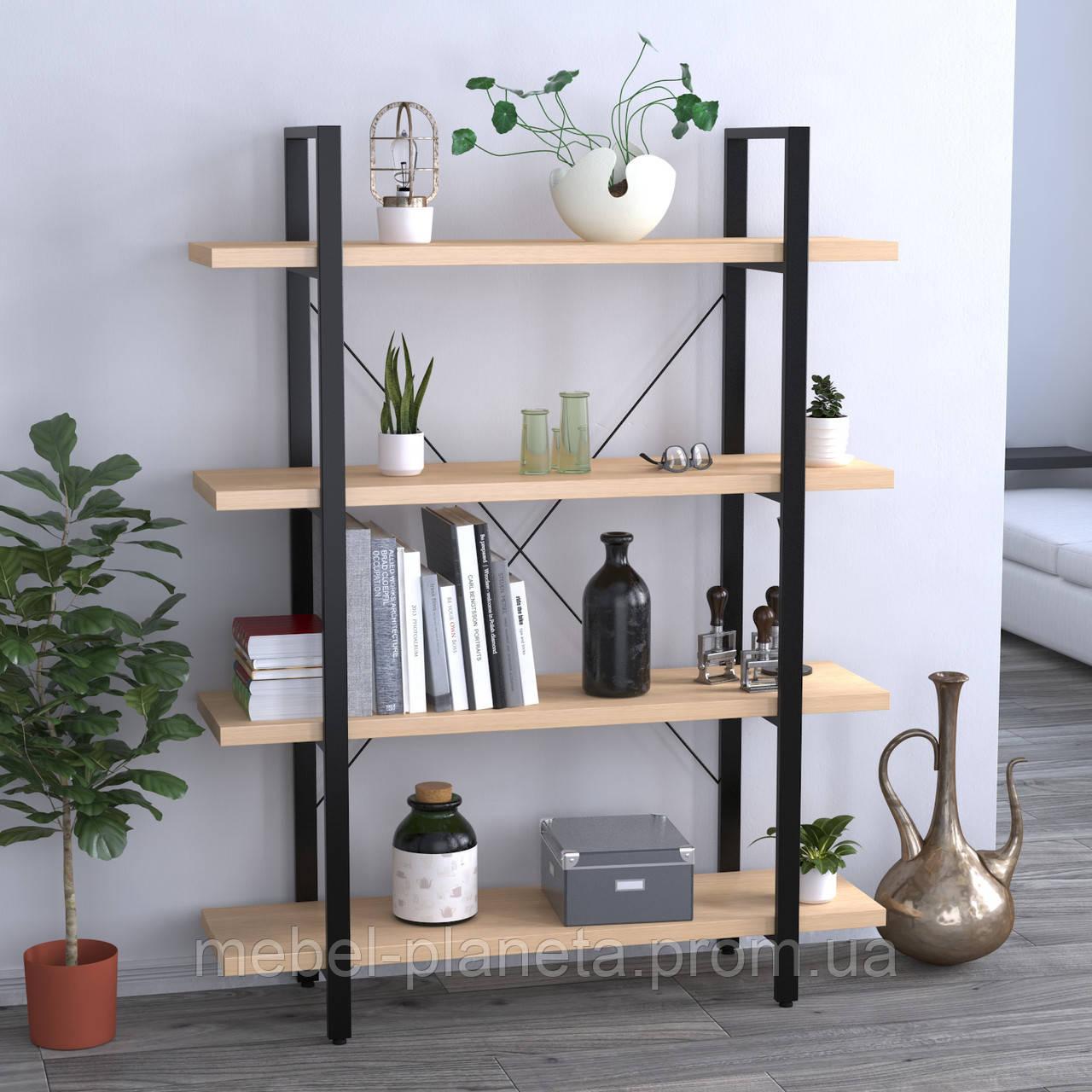 Стеллаж для книг офисный Сингл-4 Loft Design