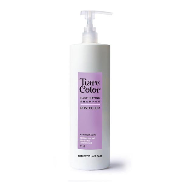 Шампунь для сяйва і збереження кольору фарбованого волосся Tiare Color Postcolor Illuminating 1000 мл