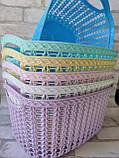 Ажурна корзинка з ручками для зберігання дрібниць, матеріал пластик, розмір25х18х12 см, ціна 45 грн, фото 2