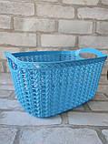 Ажурна корзинка з ручками для зберігання дрібниць, матеріал пластик, розмір25х18х12 см, ціна 45 грн, фото 4