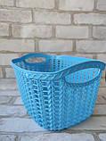 Ажурна корзинка з ручками для зберігання дрібниць, матеріал пластик, розмір25х18х12 см, ціна 45 грн, фото 5