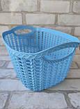 Ажурна корзинка з ручками для зберігання дрібниць, матеріал пластик, розмір25х18х12 см, ціна 45 грн, фото 6
