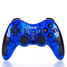 Беспроводной джойстик для ПК Havit HV-G89W (23127) Blue, для PC/PS2/PS3, беспроводный геймпад, фото 2