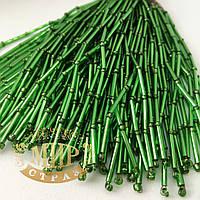 Стеклярусные нити, Green, длинна 8см (10штук)