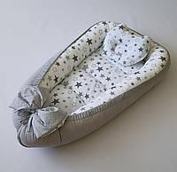 Люлька-кокони и подушка, гнездышко, позиционер для новорожденного TomiTom двусторонний.