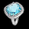 Срібне кільце з великим каменем