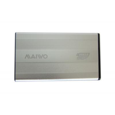 Карман внешний 2,5' Maiwo K2501A-U3S silver SATA через USB3.0 на винтах алюм. серебр.