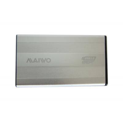 Карман внешний 2,5' Maiwo K2501A-U3S silver SATA через USB3.0 на винтах алюм. серебр., фото 2