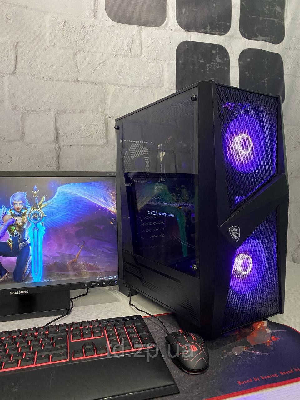 Игровой компьютер Ryzen 3 3100 + GTX 1070 8Gb + RAM 16GB + HDD 2000Gb + SSD M.2 240Gb