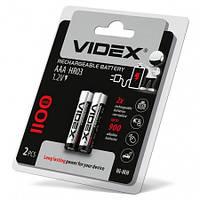 Аккумуляторы ААА, 1100 mAh, Videx, 2 шт, 1.2V, Blister
