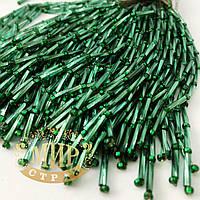 Стеклярусные нити, Green Zircon, длинна 8см (10штук)